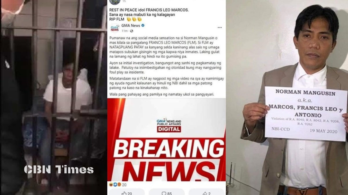 Francis Leo Marcos allegedly found lifeless in his cell